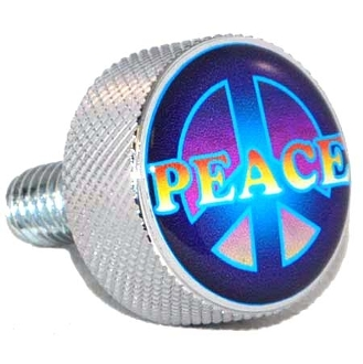 Harley Twin Cam Air Cleaner Bolt - Chrome Billet Peace
