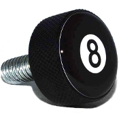 Harley Twin Cam Air Cleaner Bolt - Black Billet 8 Ball