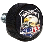 Harley Twin Cam Air Cleaner Bolt - Black Billet Remember 9/11
