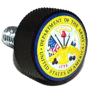 Harley Twin Cam Air Cleaner Bolt - Black Billet US Army