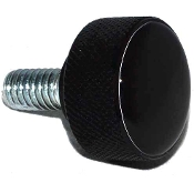 Harley Twin Cam Air Cleaner Bolt - Black Billet Solid - Black