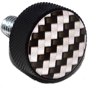 Harley Twin Cam Air Cleaner Bolt - Black Billet Carbon Fiber