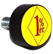 Harley Twin Cam Air Cleaner Bolt - Black Billet 1%er - YDYR