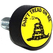 Harley Twin Cam Air Cleaner Bolt - Black Billet Don't Tread