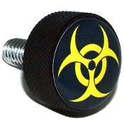 Harley Twin Cam Air Cleaner Bolt - Black Billet Hazard Yellow