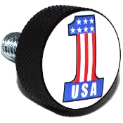 Harley Twin Cam Air Cleaner Bolt - Black Billet #1 USA White