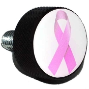 Harley Twin Cam Air Cleaner Bolt - Black Billet Ribbon Pink/ Wht