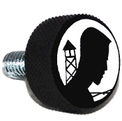 Harley Twin Cam Air Cleaner Bolt - Black Billet POW*MIA Logo