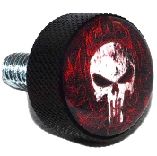 Harley Twin Cam Air Cleaner Bolt - Black Billet Punisher Skull