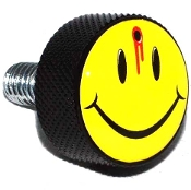 Harley Twin Cam Air Cleaner Bolt - Black Billet - Smile Shot