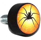 Harley Twin Cam Air Cleaner Bolt - Black Billet Black Spider