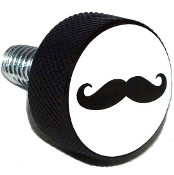 Harley Twin Cam Air Cleaner Bolt - Black Billet 'Stache