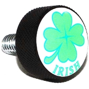 Harley Twin Cam Air Cleaner Bolt - Black Billet Clover - Irish W