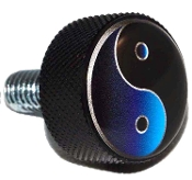 Harley Twin Cam Air Cleaner Bolt - Black Billet Yin Yang