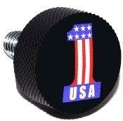 Harley Twin Cam Air Cleaner Bolt - Black Billet #1 USA Black