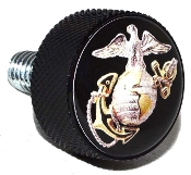 Harley Twin Cam Air Cleaner Bolt - Black Billet USMC EGA