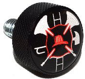 Harley Twin Cam Air Cleaner Bolt - Black Billet Fire Department