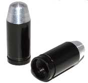 Bullet Valve Stem Caps - Black - Set of 2