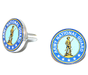Polished Billet License Frame Bolts - National Guard - Set of 2