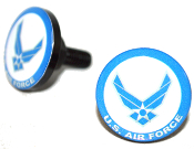 Black Billet License Frame Bolts - USAF Air Force - 2