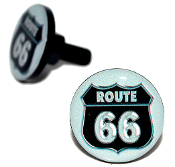 Black Billet License Frame Bolts - Route 66 - Set of 2