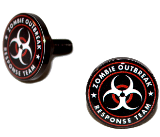 Black Billet License Frame Bolts - Zombie Outbreak - R/W