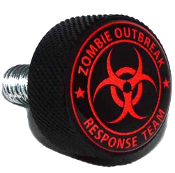 Harley Twin Cam Air Cleaner Bolt - Black Billet Zombie O - R/B