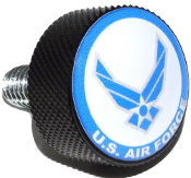 Harley Twin Cam Air Cleaner Bolt - Black Billet USAF Air Force