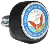 Harley Twin Cam Air Cleaner Bolt - Black Billet US Navy