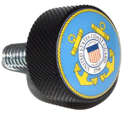 Harley Twin Cam Air Cleaner Bolt - Black Billet US Coast Guard