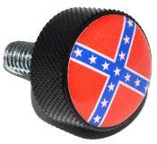 Harley Twin Cam Air Cleaner Bolt - Black Billet Flag - Rebel