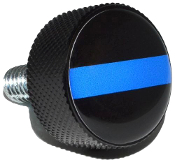 Harley Twin Cam Air Cleaner Bolt - Black Billet Blue Line