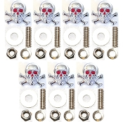 Motorcycle Windshield Bolts - Skull & Bones - 7
