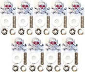 Motorcycle Windshield Bolts - Skull & Bones - 9