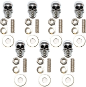 Motorcycle Windshield Bolts - Skull w/ Black Eyes - 7