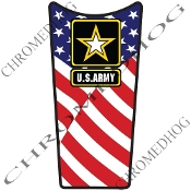 89-07 Road & Electra Glide Dash Insert Decal - Army Logo US Flag