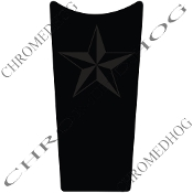 89-07 Road & Electra Glide Dash Insert Decal - Star Ghost/Blk
