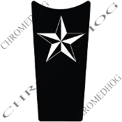89-07 Road & Electra Glide Dash Insert Decal - Star White/Blk