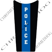 89-07 Road & Electra Glide Dash Insert Decal - Blue Line PoliceV