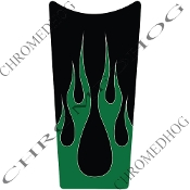 89-07 Road & Electra Glide Dash Insert Decal - Flame 2 Green Up