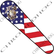 08-Up FLHX Street Glide Dash Insert Decal - USMC EGA US Flag