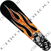 08-Up FLHX Street Glide Dash Insert Decal - Skull P on Rl Flame
