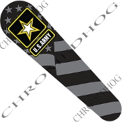 08-Up FLHX Street Glide Dash Insert Decal - Army Logo Ghost Flag