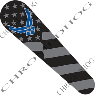 10-Up FLTRX Road Glide Dash Insert Decal - USAF Ghost Flag