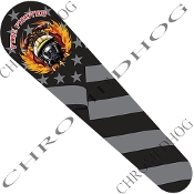 06-07 FLHX Street Glide Dash Insert Decal - Fire Fighter G Flag