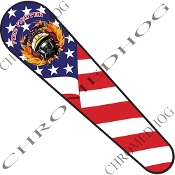 06-07 FLHX Street Glide Dash Insert Decal - Fire Fighter US Flag