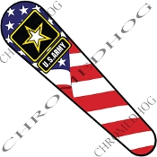 06-07 FLHX Street Glide Dash Insert Decal - Army Logo USA Flag