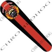 06-07 FLHX Street Glide Dash Insert Decal - Red Line FireFighter