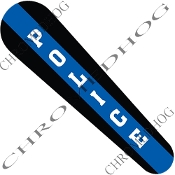 08-Up FLHX Street Glide Dash Insert Decal - Blue Line Police V