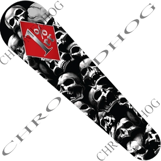06-07 FLHX Street Glide Dash Insert Decal - Skull Pile 1% (Red)